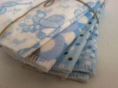 Set of 8 reusable cloth diaper baby wipes / by JoKoCreations, $6.25