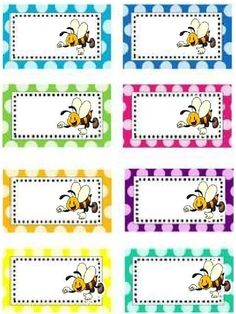 Ідеї для оформлення. Стікери для боксів. 1 клас Classroom Labels, Classroom Decor, Bee Activities, Book Labels, School Labels, School Clipart, Binder Organization, Bee Theme, School Decorations