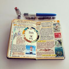 """""""The true painter is the one who is able to patiently paint a pear in the middle of History movements. Patiently is the key word. by jose_naranja Wreck This Journal, My Journal, Art Journal Pages, Art Journals, Peter Beard, Travel Sketchbook, Notebook Art, Commonplace Book, Dream Book"""