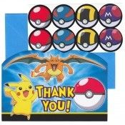Pokemon Thank You Notes Pokemon Party Supplies, Pokemon Birthday, Note 8, Thank You Notes, Disney Characters, Fictional Characters, Invitations, Cards, Sympathy Thank You Notes