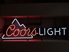 COORS LIGHT BEER NEON SIGN Long Version w/ Mountains Real Neon! NEW IN BOX 2015 #coors #cjbeez  #coorslight #beer #neon