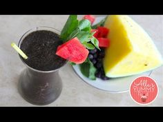 Healthy Breakfast: DAY 2: Watermelon & Basil Smoothie - Losing weight - YouTube