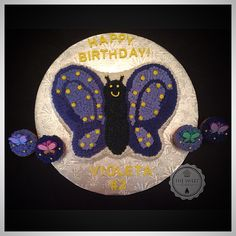 Butterfly Cake and Cupcakes!! By TheSweetLadyBug