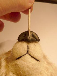 Wonderful tutorial for making a Polymer clay bear nose by Francesca Boretti