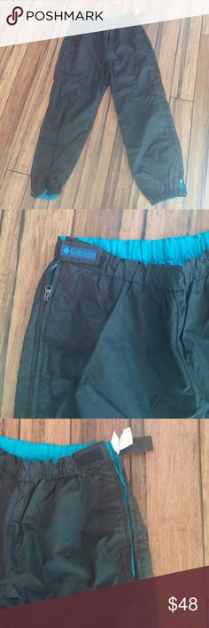 Columbia Women's Reversible Ski/Snow Pants Black on one side, teal on the other! Wear them whichever way you want. Waterproof. Lined. Very warm. Zips all the way up the side of the leg. Elastic waist. Great condition!*30% off bundles* Columbia Other
