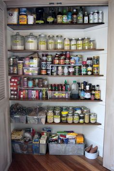 This month we've asked a few friends of The Kitchn to share how they organize areas in their kitchen. Today Tracy Benjamin of Shutterbean lets us in on the secret to her gorgeously organized home pantry. (Hint: It's all about knowing what you have and doing maintenance!)