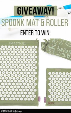 Enter for a chance to win the amazing Spoonk acupressure mat combo, and spoonk magnetic roller. Reduce back pain, muscle tension and joint pain by winning this amazing acupressure mat Acupressure Mat, Acupressure Treatment, Treatment For Back Pain, Meridian Massage, Acupuncture Benefits, Back Pain Remedies, Rheumatoid Arthritis Treatment, Relieve Back Pain, Massage Tips