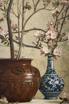 ► Charles Caryl Coleman (1840–1928) - Azaleas and Apple Blossoms, 1879 (Detail)