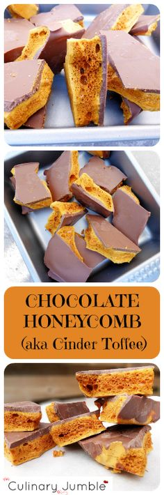 Chocolate Honeycomb (AKA Cinder Toffee)
