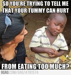 Skeptical Third World Kid doesn't believe that