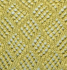 LOVE THIS!!!  Checkerboard Mesh Lace pattern free instructions.