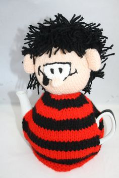 Hand Knitted Dennis The Menace Tea Cosy // Gifts for Her // Tea Pot Cosy // Tea Rooms Decoration // Afternoon Tea // Tea Warmer