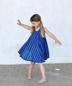 Another great find on #zulily! buckleberry blue & black Stripe Twirl Dress