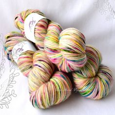 PILLOW  Blurry Vision OOAK  hand dyed yarn by NinaHandDyed on Etsy