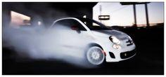 Fiat 500 burnout