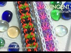 Rainbow Loom WINCENT Bracelet. Designed by @rainbowloom_adventures. Tutorial and looming by Jays Alvarez. Click photo for YouTube tutorial. 10/19/14.