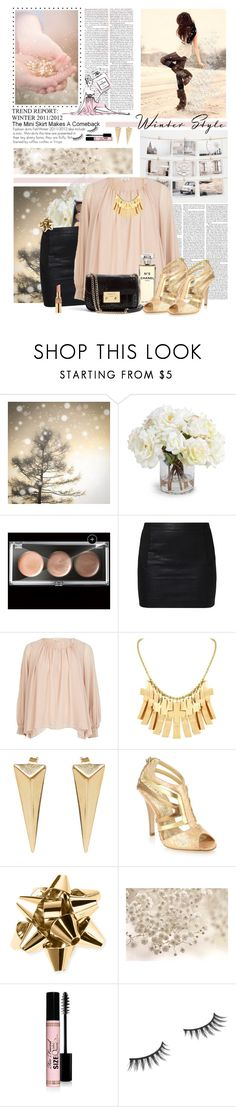 """""""Christmas Eve"""" by heidior ❤ liked on Polyvore featuring WALL, New Growth Designs, Maybelline, Edition, ONLY, River Island, Belle Noel by Kim Kardashian, Moratorium, Chanel and Matthew Williamson"""