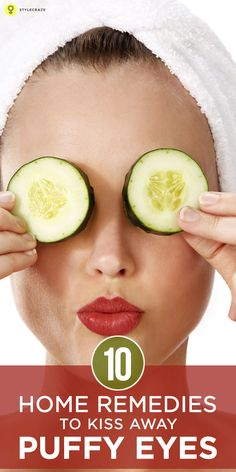 Do you suffer from swollen eyes? There are many causes of this eye disease. Here are the best home remedies for puffy eyes as well as . Dry Eyes Causes, Cucumber On Eyes, Cucumber Beauty, Beauty Hacks For Teens, Dark Circles Under Eyes, Beauty Makeup Tips, Eye Makeup, Beauty Care, Hair Beauty