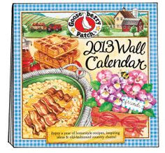 2013 Wall Calendar -- Watercolor Illustrations, Recipes & Tips A Gooseberry Patch Exclusive Country Product - N901