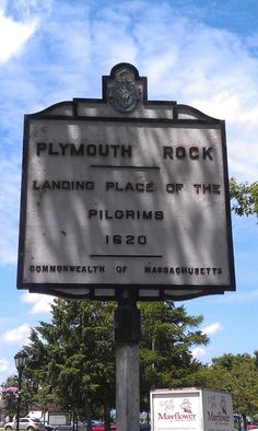 Plymouth Rock Sign - Plymouth, Massachusetts