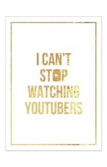 Signed Can't Stop Poster (Gold Foil on White 18x24) Poster - Tyler Oakley Posters - Official Online Store on District Lines