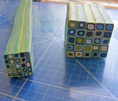 Klimt Cane in Wasabi and Teal by Pips Jewellery Creation, via Flickr