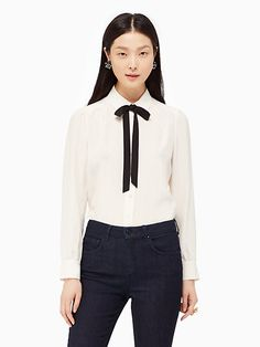 bow tie blouse - Kate Spade New York