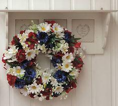 Clarah / Poľný letný veniec Vence, 4th Of July Wreath, Floral Wreath, Wreaths, Retro, Home Decor, Flower Crowns, Door Wreaths, Room Decor