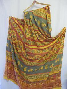 Indian Tablecloth Boho Tablecloth Tribal Tablecloth Hippie Tablecloth