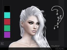 Ear Cuff Piercing Earrings the sims 4 _ - The Sims 4 Love Life Asia VietNam The Sims 4 Pc, Sims 4 Mm, Sims Videos, Ear Cuff Piercing, Sims 4 Cc Kids Clothing, Sims 4 Studio, Sims 4 Cc Makeup, The Sims 4 Download, Sims 4 Update