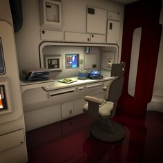 Spaceship Interior HD 2 3D Model .obj .fbx .lwo .lw .lws .blend