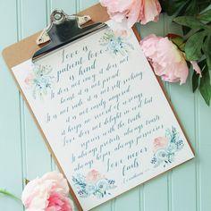 Love is Patient, Love is Kind Free Printable {Heartfelt & Handmade}