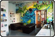 """Tales From A wall"", wall painting by Ane Elene Johansen, Tromsø Kunstforening."