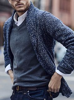 If you are in the market for brand new men's fashion suits, there are a lot of things that you will want to keep in mind to choose the right suits for yourself. Below, we will be going over some of the key tips for buying the best men's fashion suits. Mens Fashion Sweaters, Mens Fashion Suits, Men Sweater, Mens Cardigan Fashion, Mens Sweater Outfits, Sweater Cardigan, Mode Outfits, Casual Outfits, Fashionable Outfits