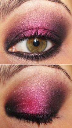 Pink & Plum. Love! Must try. Wonder if it still looks good with brown eyes?