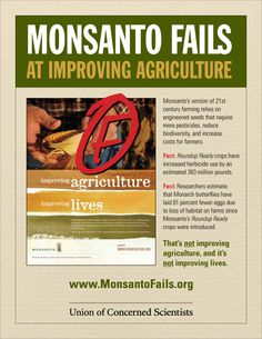 Monsanto has failed on all accounts. Recent drought losses are just another failure to add to the list where organic farming research shows higher yields with less water by year three.