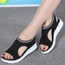 Women s sandals 2018 summer platform breathable comfort walking sandals Cute Sandals, Strap Sandals, Shoes Sandals, Women Sandals, Shoes Women, Ladies Shoes, Gladiator Sandals, Sandal Heels, Pretty Shoes