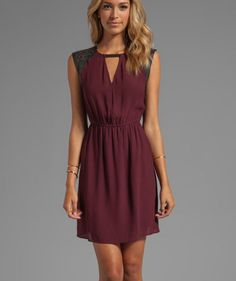 Burgundy dress - Fashion-MSU GAME