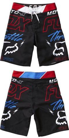 9413388447 Swimwear 51919: Fox Racing Throttled Youth Shorts Swim Trunks Kids Boys  Boardshorts -> BUY IT NOW ONLY: $39.16 on eBay!