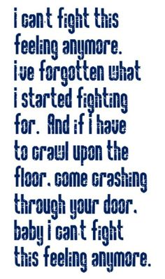REO Speedwagon - I Can\'t Fight This Feeling Anymore - song lyrics, music lyrics, song quotes, music quotes, songs