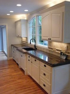 Beau Tropic Brown Granite Countertops White Kitchen Cabinets, Granite Kitchen,  Kitchen Redo, Kitchen Countertops