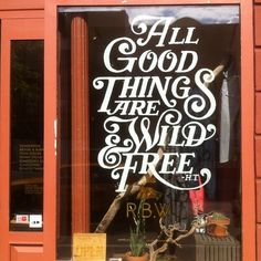 Henry David Thoreau quote, nice lettering