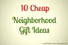 Cute gifts for neighbors!! (tutorials included)