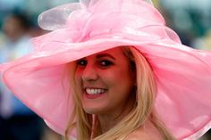 KENTUCKY DERBY 2016 | Woman with a hat during the 142nd running of the Kentucky Derby horse race at Churchill Downs on May 7, 2016, in Louisville, Kentucky