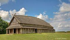 "This Viking Longhouse is a part of the Viking Museum ""Trelleborg"" near Slagelse in Denmark."
