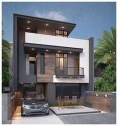 A Short Home Decor Guide For modern home design plans Simple House Design, Bungalow House Design, House Design Photos, Minimalist House Design, Cottage Design, Cool House Designs, Minimalist Home, Modern House Design, Modern Houses