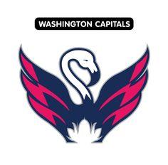 NHL -- National Hockey League team logos as redesigned by Las Vegas Nhl Logos, Sports Team Logos, Vegas Theme, Vegas Style, Washington Capitals, National Hockey League, Las Vegas, Fan, Future