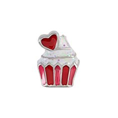 Cupid's arrow hit a sweet treat you'll love to hold close to your heart. Add this heart cupcake Charm to your Living Locket for an irresistibly sweet look. Pair it with the Classic Strawberry Milkshake Charm for double dose of sweetness!