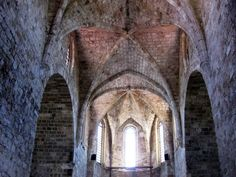 Inside of an old building in Rhodes Old Building, Rhodes