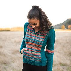 Looking for a fair isle sweater project that doesn't take quite as long? The body of this pullover is knit in Wool of the Andes Worsted yarn, while the front panel, crafted in Knit Picks Palette, gives the knitter a chance to feature his/her fair isle skills. An adorable hood and kangaroo pocket make the Flower Medley Hoodie a sweater you'll grab and wear, time and time again.